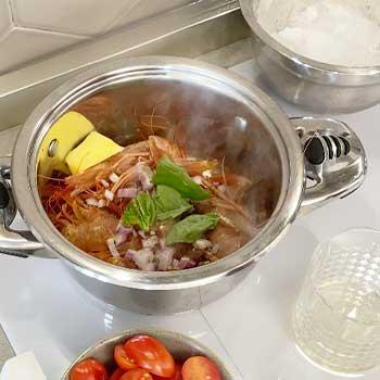 bisque gamberi agrumi