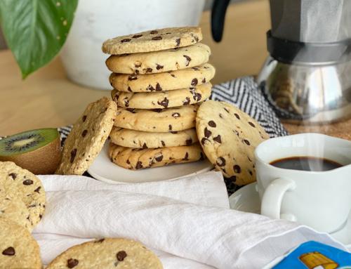 Cookies senza uova con perle di cioccolato e burro salato