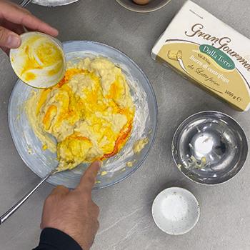 impastare con burro di centrifuga