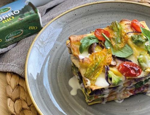 Lasagne di verdure Bri(e)ose con besciamella al Burro Bio