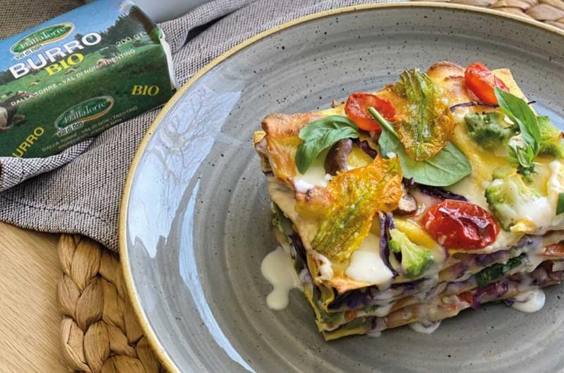La campagna in tavola: lasagne di verdure Bri(e)ose con besciamella al Burro Bio